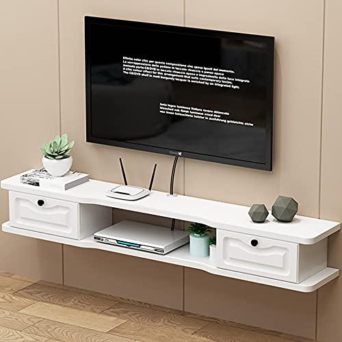 Mueble de TV Mesa Flotante,Unidad de TV Flotante Duradero Y Protector,Mueble de TV flotante Multifuncional para la Sala de Estar Del Dormitorio Del Hogar/B/Los 140CM