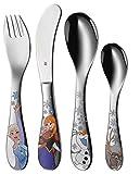 WMF Disney Frozen - Cubertería para niños 4 piezas (tenedor, cuchillo de mesa, cuchara y cuchara pequeña) (WMF Kids infantil)