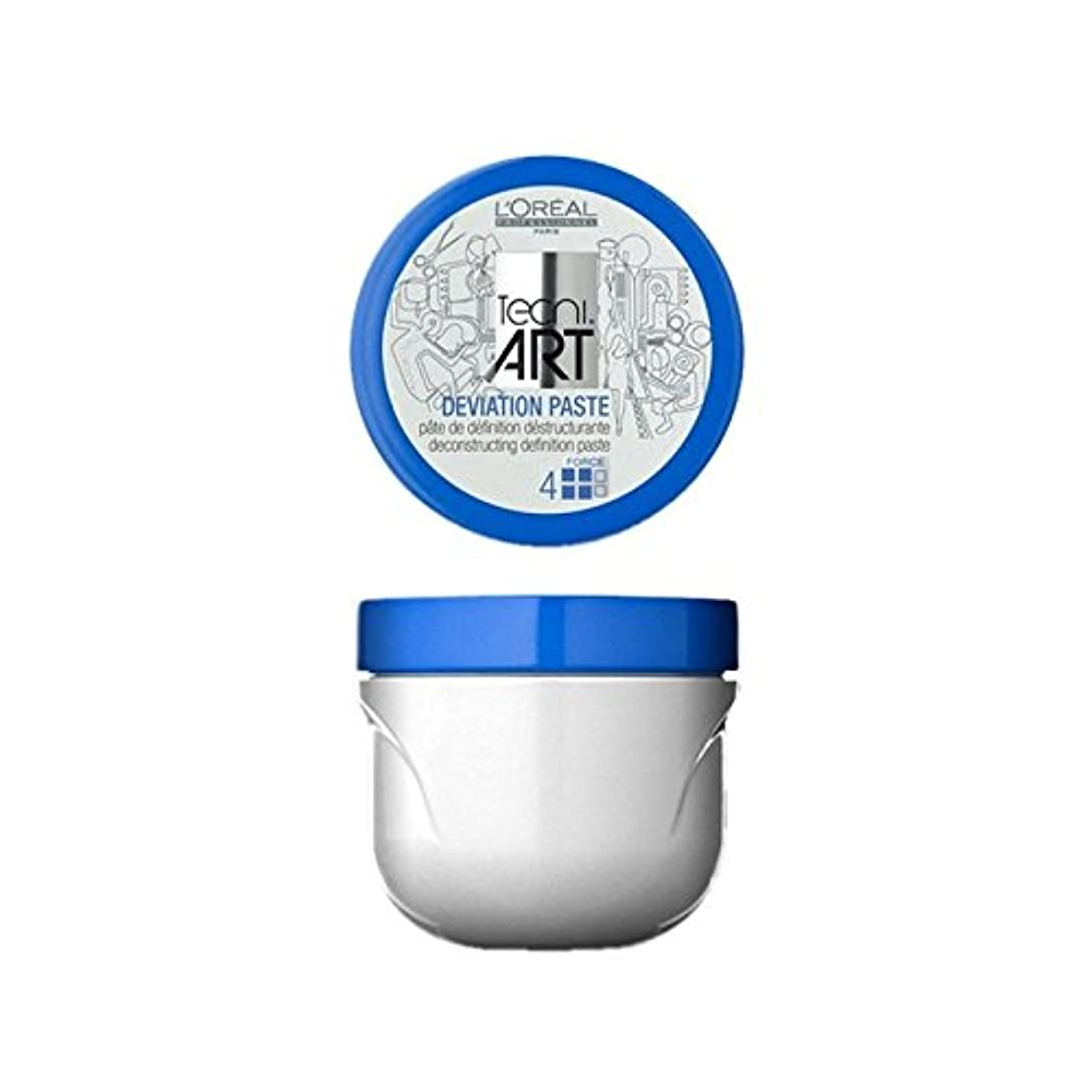 ハプニングシングル夕方L'Oreal Professionnel Tecni Art Deviation Paste (100ml) (Pack of 6) - ロレアルプロフェッショナル技術偏差ペースト(100)に x6 [並行輸入品]