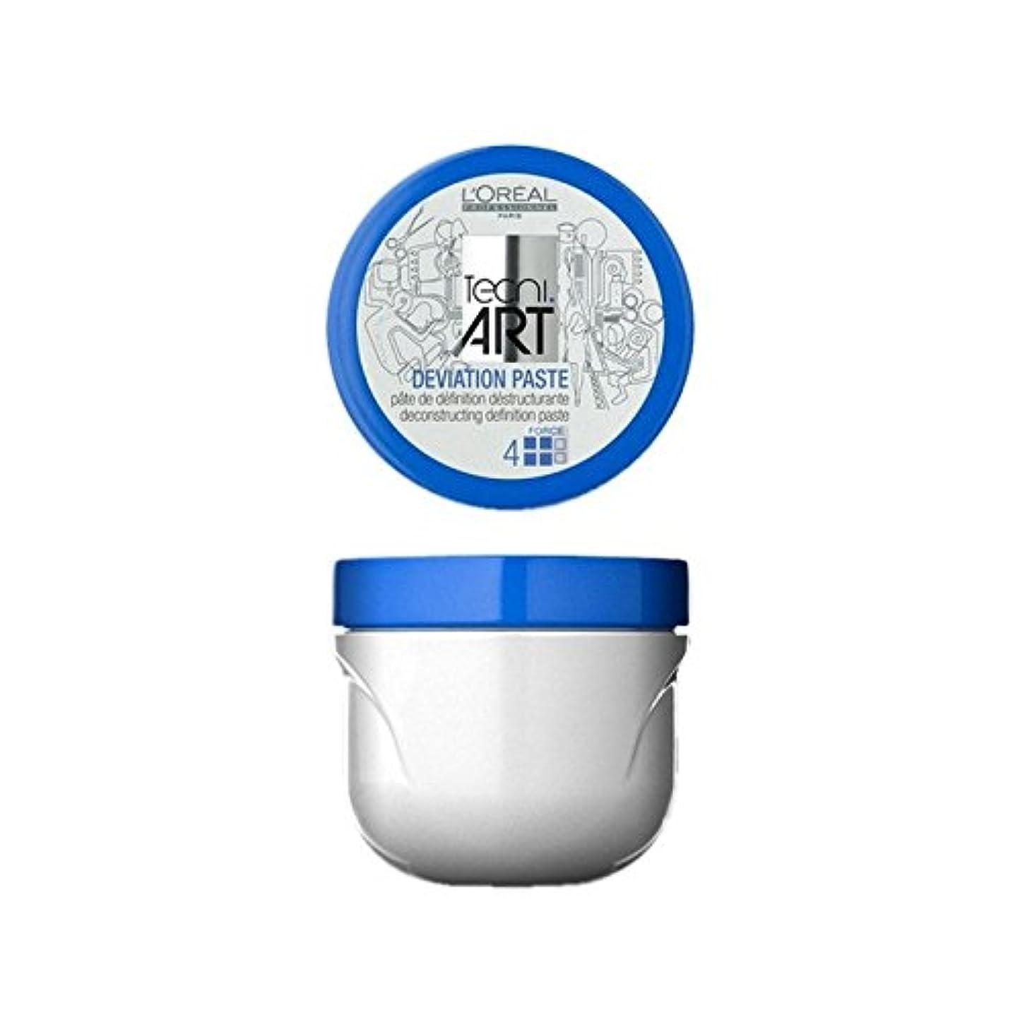 解明するあからさま州L'Oreal Professionnel Tecni Art Deviation Paste (100ml) (Pack of 6) - ロレアルプロフェッショナル技術偏差ペースト(100)に x6 [並行輸入品]