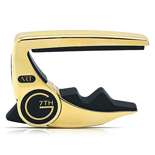 Guitar Tuner Capo Performance3 Professionelle Ballad E-Gitarren-Clip Big G7 Personality Voice-Clip stark und haltbar Tuner (Farbe : Gold)