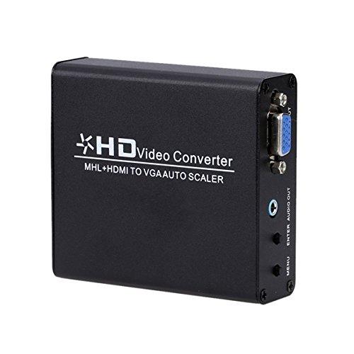 /G Convertidor MHL/HDMI a VGA Escalador automático Adaptador de Conector de Video...