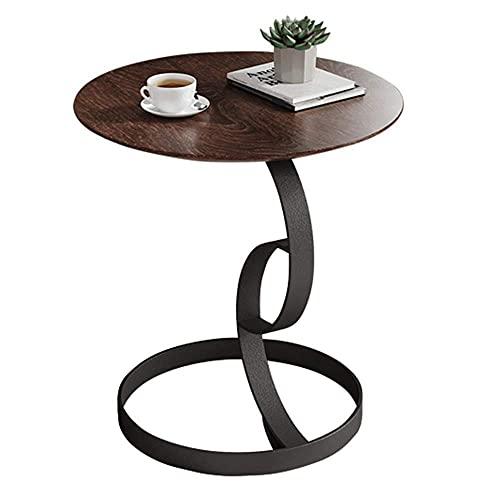 """nowy styl Meble stolik do kawy, drewniany stół stołowy salon sypialnia stolik do kawy mały okrągły stół stolik balkonowy stół wypoczynek, 19,6""""; 20.4"""""""