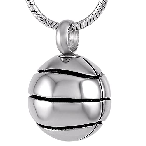Basketball Cremation Jewelry Keepsake Memorial Urn Necklace Ash Holder For Person Or Pet