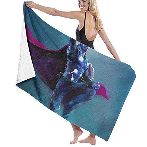 xcvgcxcvasda ANMkmer Th-oder Lightning Pool Strandtuch Mikrofaser Badetücher Schnelltrocknende Handtuch Decke für die Reise Schwimmbad Yoga Camping Gym Sport