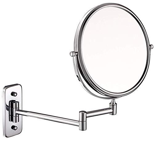 BXU-BG Espejo cosmético de belleza de 20,32 cm, espejo de maquillaje europeo con aumento de 10 veces (color: plata, tamaño: 8 pulgadas 10X)
