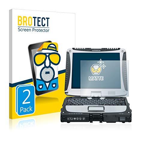 BROTECT 2X Entspiegelungs-Schutzfolie kompatibel mit Panasonic Toughbook CF-19 Bildschirmschutz-Folie Matt, Anti-Reflex, Anti-Fingerprint