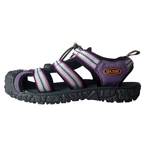 SIX.TEN Women's Outdoor Hiking Sport Sandals Closed-Toe Water Shoes- Buy  Online in Mongolia at mongolia.desertcart.com. ProductId : 179592520.