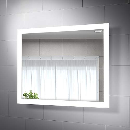 Pebble Grey - LED Bathroom Mirror Lighted Wall Mounted Vanity Mirror for -