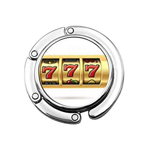 Nette Faltbare Geldbörse Kleiderbügel Haken Casino Spielautomat Lucky Sevens Jackpot 777 Symbol Bingo Win Spin Handtasche Haken Tischtasche
