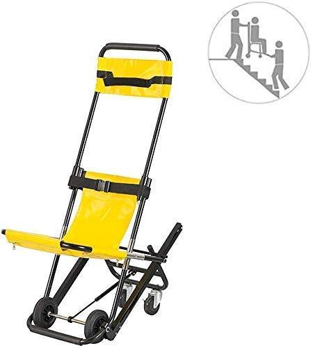 GLJY Treppenstuhl - Rettungswagen Feuerwehrmann Evakuierung Medical Lift Treppenstuhl -Aluminium Leichte medizinische Mobilitätshilfe mit 4 Rädern und Zwei Sicherheitsgurten