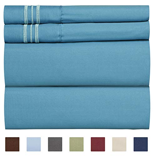 King Size Sheet Set - 4 Piece - Hotel Luxury Bed Sheets - Extra Soft - Deep Pockets - Easy Fit - Breathable &...