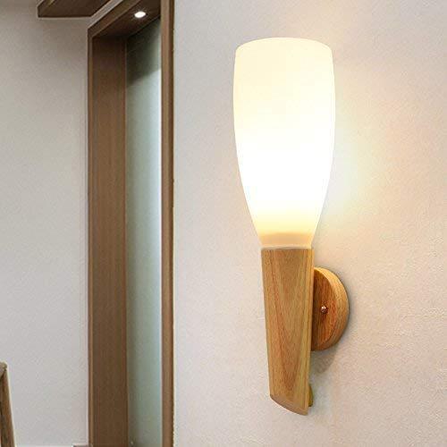 WHKHY LED Does cesse de Bois Lampe de Table Lampe de Mur Nuit Chambre à Coucher Salon escalier Marche Balcon Simple et Moderne Applique Murale, 10 * 42 cm