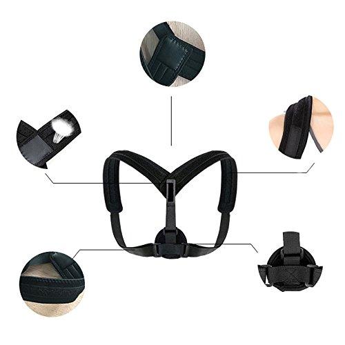 lzndeal Back Posture Corrector clavicle Support Belt Back Slouching Corrective Adjustable Spine Braces