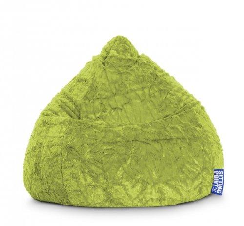 SITTING POINT only by MAGMA Sitzsack Fluffy XL ca. 220 Liter grün