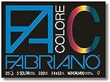 Fabriano 113501 Album da Disegno Facolore 24X33 5 Colori 220 G/M2 Monoruvido (25, Carta, M...