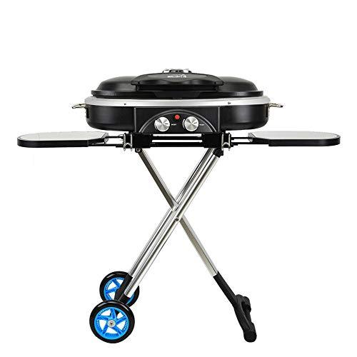 CYOYO Carrello Portatile Integrato BBQ Grill Barbecue da Campeggio All'Aperto Barbecue Stufa A Gas-Nero