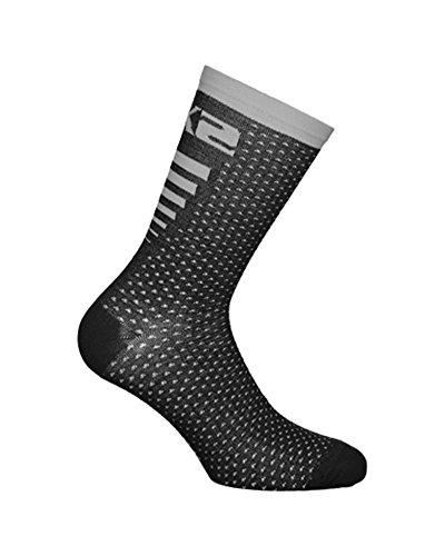 SIXS - Calcetines Arrow Merinos, negro/gris, talla 39 42
