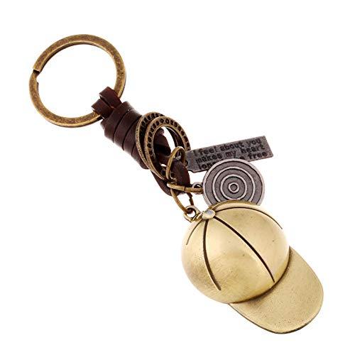 CHENSHUANG Männer und Frauen Schlüsselanhänger kleine Geschenklegierung Baseballkappe geflochtener Schlüsselanhänger Anhänger