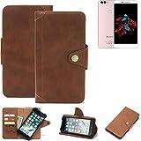 K-S-Trade® Handy-Hülle Für Bluboo Dual Schutz-Hülle Walletcase Bookstyle Tasche Handyhülle Schutz Case Handytasche Wallet Flipcase Cover PU Braun (1x)