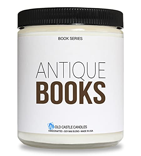 Book Candle - Antique Books - Literary Gift - 8 ounce