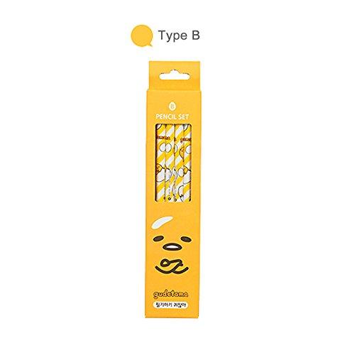 Sanrio Gudetama Lazy Egg Stationery Pencil 4pc Set (4 Design Available) (Type B)