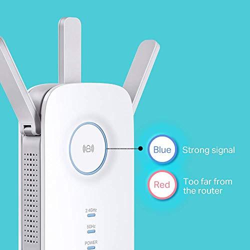TP-Link RE450 AC1750 Gigabit Dual Band Range Extender/Broadband/Wi-Fi Extender (Wi-Fi Booster/Hotspot mit1 Gigabit Port und 3 External Antennas, Built-in Access Point Mode)