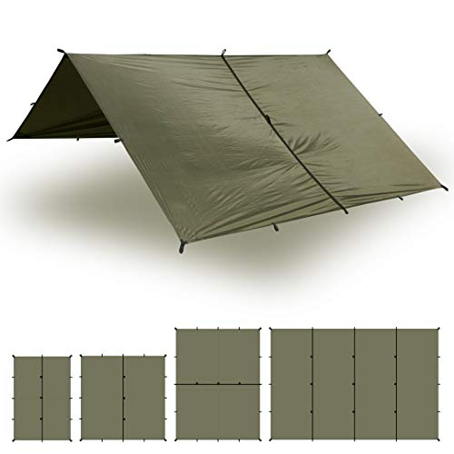 Aqua Quest Safari Tarp - 100% Waterproof Lightweight SIL-Nylon Bushcraft...