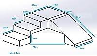 Velinda Completo Set 4 Mattoni Blocchi Schiuma Gioco Giocattoli Bambini Scivolo (Colore: Bianco,Grigio) #1