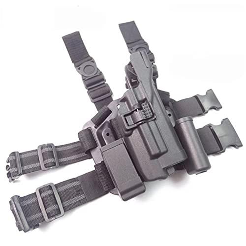 GY Cinturón de Pistola de Mano Compacto Militar/pistolera de Pierna Pistolera de Pistola de Paintball táctico Pistola de Caza Estuche de Pistola Funda de Muslo, Funda táctica Ajustable de 360 °
