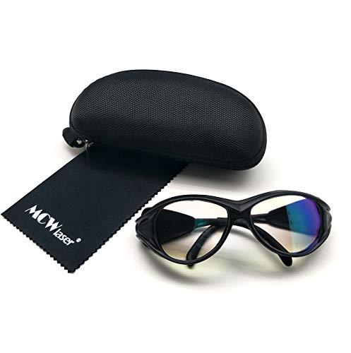 MCWlaser CO2 Laser Safty Schutzbrille Gläser 1064nm Reflektierende Art CO2 Laser Brillen Für Faser YAG Laserbeschriftung Schneiden YAG Haar Tattooentfernung Schönheitsbehandlung Instrument EP-24