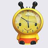 ZJIAN Pequeña Abeja Despertador Reloj Despertador Infantil Dibujos Animados Lindo Personalidad Creativa Alarma ,Función de Silencio/luz Nocturna/Posponer。Adecuado para niños,Estudiantes,Dormitorio