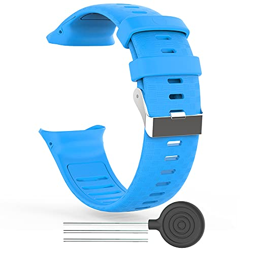 KINOEHOO Correas para relojes Compatible con Polar Vantage V Pulseras de repuesto.Correas para relojesde silicona.(azul)