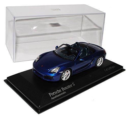 Minichamps Porsche Boxster S Cabrio Blau 981 Ab 2012 1/43 Modell Auto mit individiuellem Wunschkennzeichen