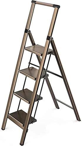 Schmutziger Korb Tritthocker Mobile Leiter, Verstärkte Anti-Rutsch-Trittleiter Blumenleiter Bücherregal Leiter Außenstehleiter Klettere die Leiter hoch (Color : B, Size : 48 * 84 * 140cm)