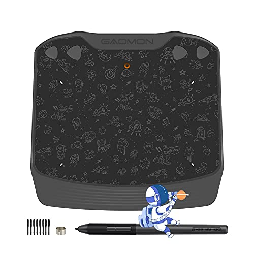 GAOMON S630 Android OS Supported Graphics Pen Tablet with 4 Express Keys 8192 Levels Pressure Battery-free Pen for Digital Drawing Beginners Osu Gaming 2D 3D Animation