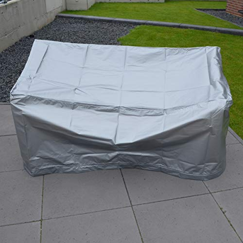 KERABAD Abdeckung für Gartenmöbel - wasserdichte und witterungsbeständige Gartenmöbel Abdeckung - für Gartenbänke und Stappelstühle Schutzhülle Regenschutz (Sitzbank 130x60x93cm)