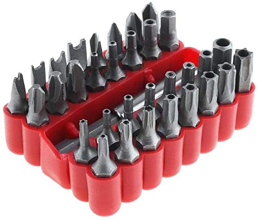 ZW18U Juego de Herramientas magnéticas 33 en 1 Kit Hueco con HEXONAL Y TORX Especial Herramienta DE TRIMEN en Forma de Cargador para Tornillo Kit de Herramientas de precisión