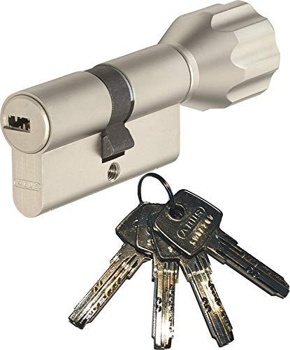ABUS EC550 Profilo-Cilindro con pomolo Lunghezza Z30/K30mm Con 4 Chiavi