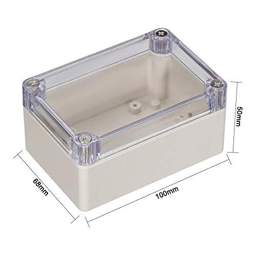 Heng Wateproof ElectronicJunction Box Gehäuse mit durchsichtiger Abdeckung 64x58x35mm 83x58x33mm 100x68x40mm für Heimwerker, 100x68x50mm (IP67)