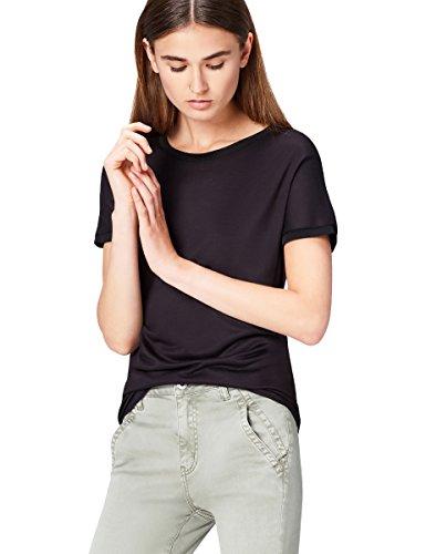 find. 70138 t shirt damen, Schwarz (Black), 38 (Herstellergröße: Medium)