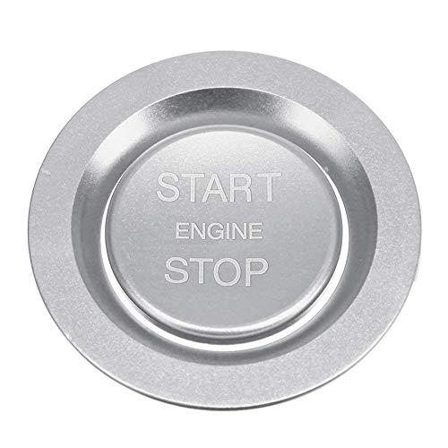 AAlamor Botón De Arranque del Coche Tapa del Interruptor del Motor De Carbono para Land Rover Discovery Sport 2015-2018 - Plata