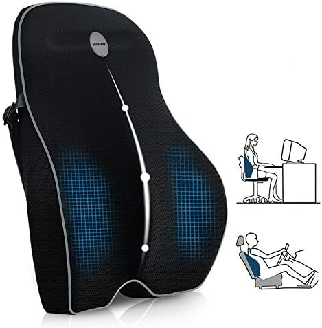 Villsure Lumbar Support Pillow Memory Foam Back Cushion Pillow for Office Chair Computer Car product image