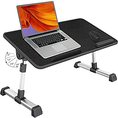 Amazon - 50% Off on Folding Bed Desk Adjustable Height Laptop Table Portable Small Standing