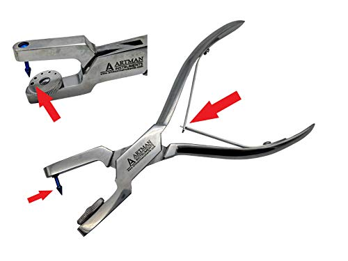 Ainsworth Punch Pliers For Rubber Sheets Leather Sheets 5 Sizes Holes 0.8mm, 1.0mm 1.2mm 1.5mm and 2mm rotary punch By Wise Linkers