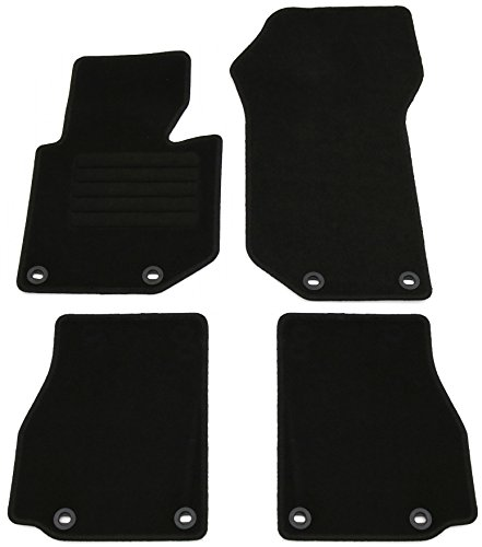 AD Tuning GmbH HG1812 Velours Passform Fußmatten Set, Schwarz