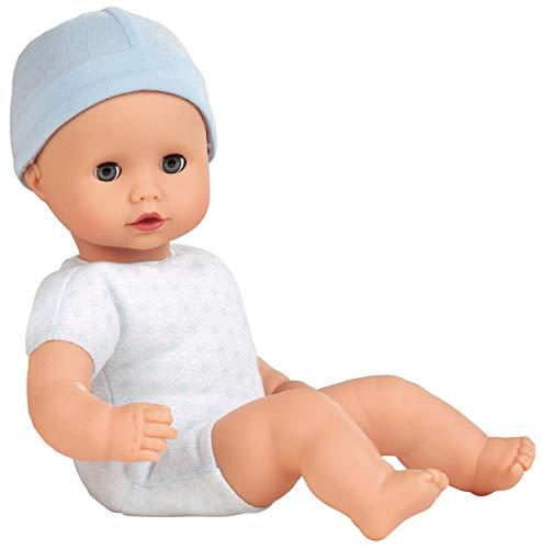Götz 1320591 Muffin to Dress Junge Puppe - 33 cm große Babypuppe mit blauen Schlafaugen, ohne Haare - Weichkörperpuppe mit Mütze - ab 18 Monaten