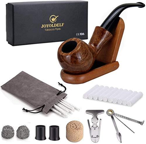 Joyoldelf kit tabacco pipa,Pipa Supporto, Pipe alesatore & Reamers Tamper, 20 Scovolini...