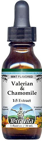 Valerian Chamomile New products, world's highest quality popular! Glycerite Liquid Extract Mint Large special price - 1:5 Flavo