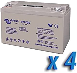 Victron Energy - Set 4 x Batería 220Ah 12V GEL Deep Cycle Victron Energy Fotovoltáico Cámper - BAT412201104x4